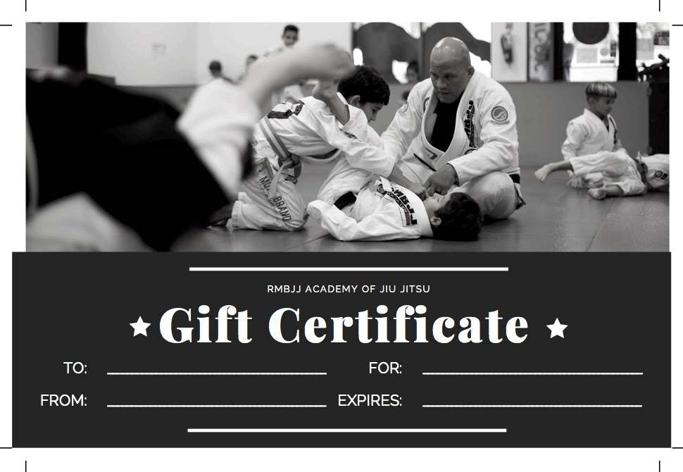Gift Certificate  2   1  Copy, RMBJJ Academy Delray Beach FL