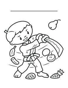 Fruit Ninja Coloring Sheet Nutrition 232x300 1, White Tiger Martial Arts  Wayne, NJ
